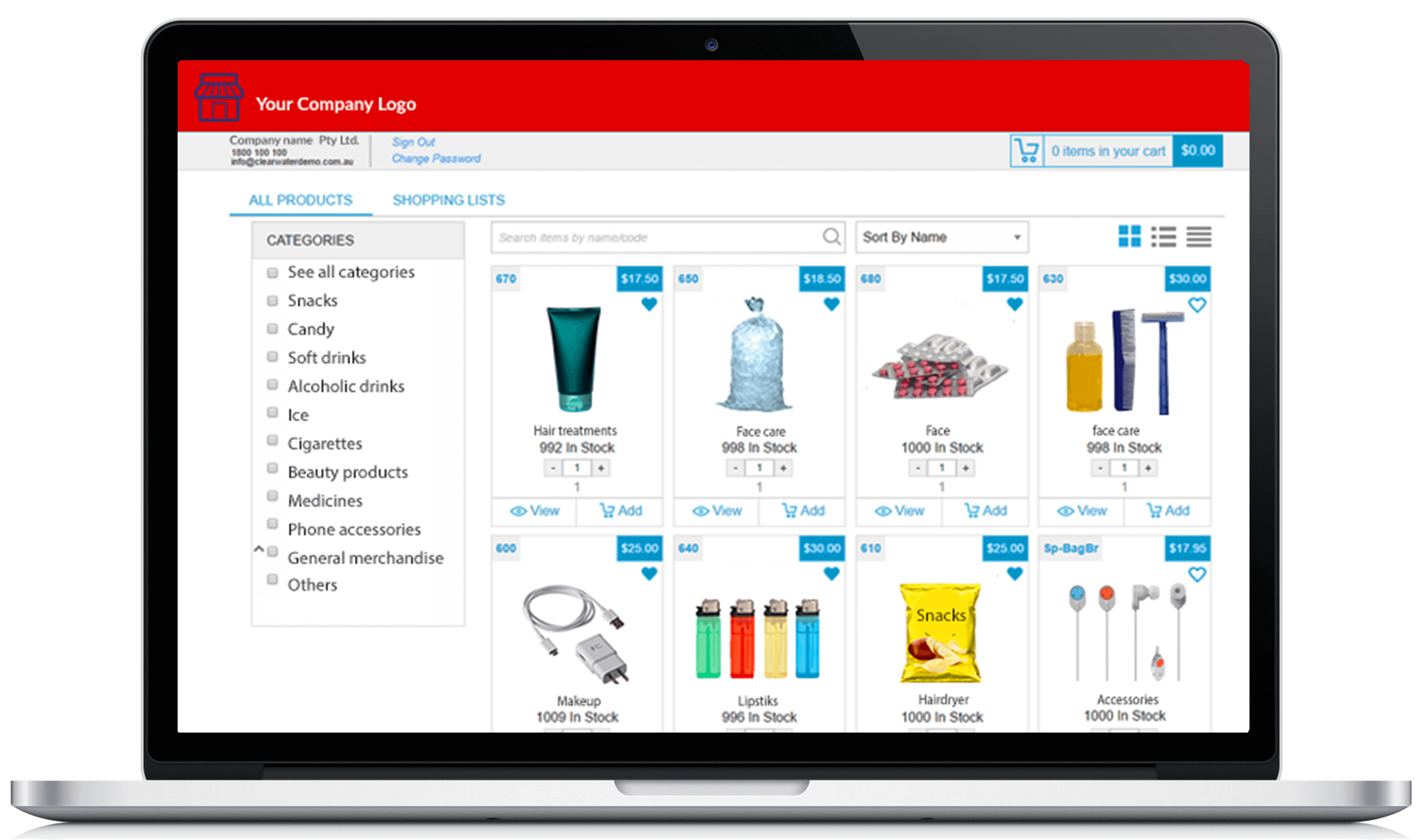 e-commerce convenience store supplies