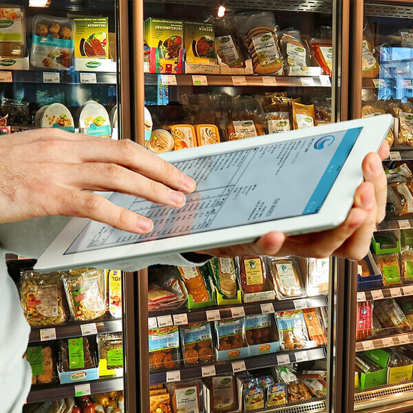 iPad on hand invoice- food and beverages supplies